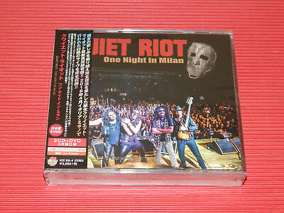 2019 Quiet Riot One Night In Milan With Bonus Track Japan 2 Cd + Dvd Edition