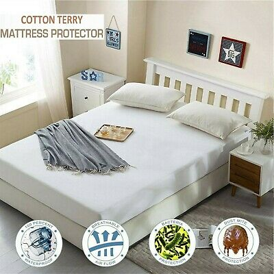 Waterproof Mattress Protector Single Cot King 4 Ft Double Fitted Bed Cover Sheet