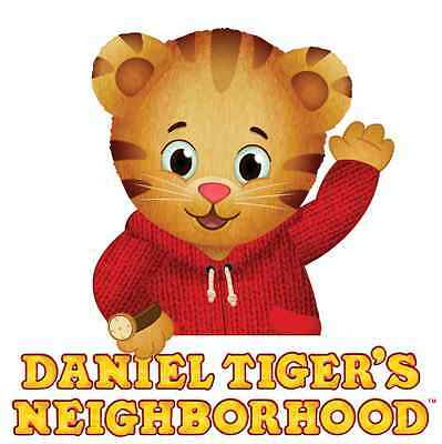 "Daniel Tiger's Neighborhood Iron On Transfer 5 ""x 5"" for LIGHT Colored Fabric"