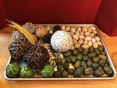 Large Assortment DRIED Vine, Gourds, Amra, Berries, Grass, pods, +++ bowl filler