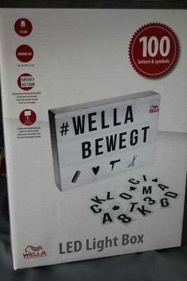 Led Light Box Wella Lightbox with 100 Letters and Symbols