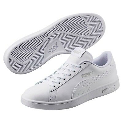 aa442f912567 Puma Smash v2 White Leather Sneakers Mens Size 13 Style 365215 - NEW with  BOX