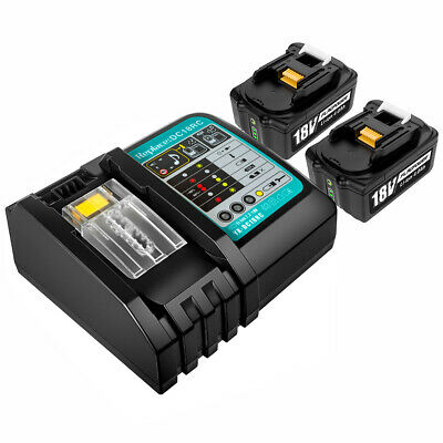2pcs 5.0AH 18V Li-ion Battery for Makita  BL1830 with Fuel Guage & Rapid Charger