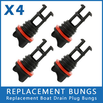 AU 4X Replacement Bungs Only Marine/Boat Drain Bung Plugs Standard Coarse Thread