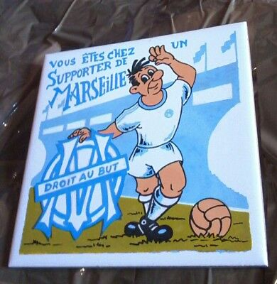 Lot objet foot OM Marseille collection écharpe pin's drapeau supporter rare foot