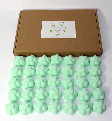 Bath Bombs Green Apple scented 35 x 10g Flowers Bee Beautiful reduced plastic