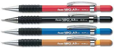 Pentel 120 A3 Mecánico Pencil Agarre Goma : 0.3mm 0.5mm 0.7mm 0.9mm - Individual