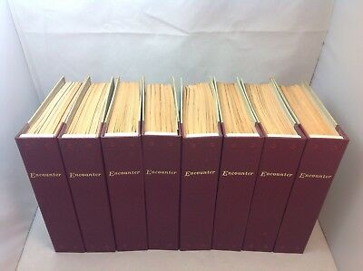 Large Joblot of Encounter Magazine in 8 Binders 1975-1980 48 in Total