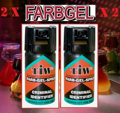 2 Yes Two Farbgel Personal Self Defence Crime Security Spray Uk Legal Farb Gel