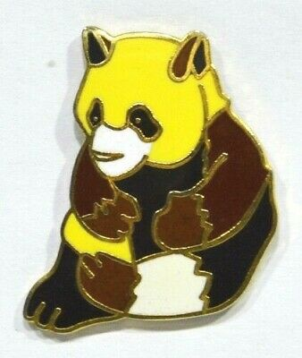 Pins Panda Jaune / Marron Metal Emaille