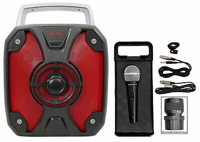 "Rockville ROCKBOX 6.5"" Rechargable Portable Bluetooth Karaoke Speaker+Microphone"