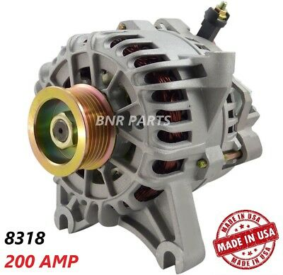 200 AMP 8318 Alternator Ford Lincoln High Output Performance HD NEW USA