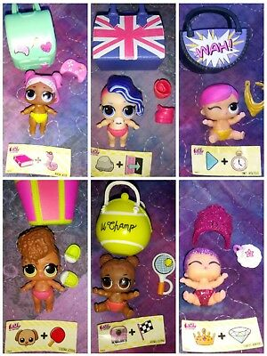 Lol surprise Lil Sisters Series 3 -Lot Of 6