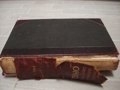 Antique History Book Historical Collections of Ohio Volume 1 Henry Howe 1898