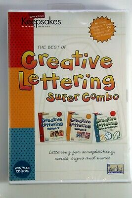 Creating Keepsakes Creative Lettering Super Combo NEW