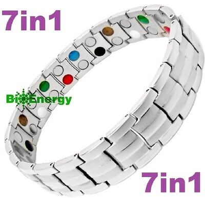 TITANIUM Magnetic GERMANIUM Energy Armband Power Bracelet JADE 7in1 Copper
