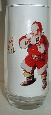 Lot#65 Vintage Series 1 Coca Cola Haddon Sundblom Santa Collectors Glass 1 Of 3