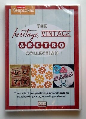 Creating Keepsakes Heritage, Vintage & Creating Keepsakes Retro CD - Brand New