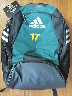 ADIDAS CLIMAPROOF STADIUM II Team Gear Up Backpack Black with Rush ... 8faf2dccf38aa