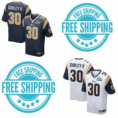 2ad7da5cacf Men's Los Angeles Rams #30 Todd Gurley II Game Jersey Super Bowl LIII  Stitched