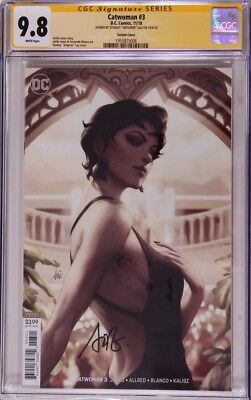 """Catwoman #3 variant__CGC 9.8 SS__Signed by cover artist Stanley """"Artgerm"""" Lau"""