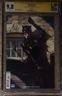 """Catwoman #1 variant__CGC 9.8 SS__Signed by cover artist Stanley """"Artgerm"""" Lau"""