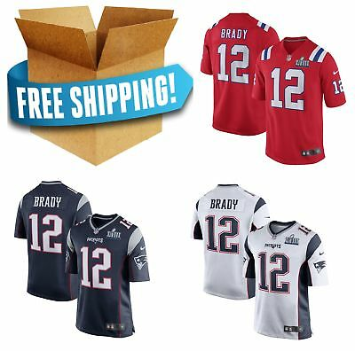 93a7bd964 Men s  12 Tom Brady New England Patriots Game Jersey Super Bowl LIII Navy  white
