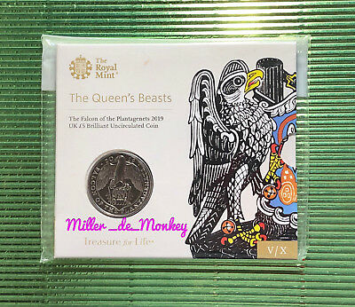FALCON OF THE PLANTAGENETS 2019 The Queen's Beasts BU £5 Five Pound Coin Pack