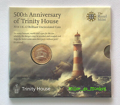 2014 TRINITY HOUSE Brilliant Uncirculated £2 Two Pound Coin Pack Mint Sealed