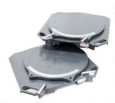 One Pair Aluminum Turntable Wheel Alignment 360° Rotating Turn Plate Table 4 Ton