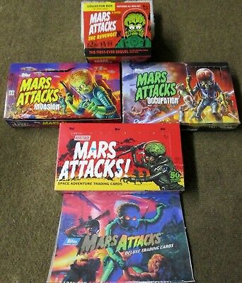 Mars Attacks Starter Kit Box(Handmade) 300 Cards W/chase+ Parallels +1 Sketch
