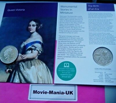 2019 £5 UK Coin 200th Anniversary of the birth of Queen Victoria BU