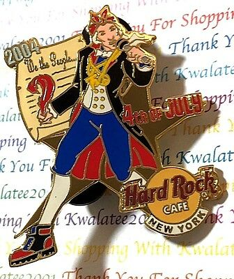 Hard Rock Cafe New York Rockin' Americans Pin 4th of July James Madison 2004 New