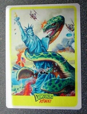Mars Attacks Occupation Topps 2015 Metal Card Exclusive  Dinosaurs Attack