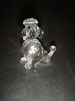 "Beautiful Swarovsi Crystal Poodle Sitting , 1.75"" ( 4.25 C.m ) High ,no:181 317"