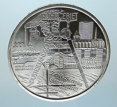 2003 GERMANY Ruhr City Views Antique Genuine Silver German 10 Euro Coin i74958
