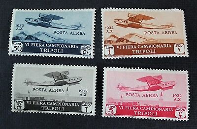 CKStamps: Italy Libia Stamps Collection Scott#C4-C7 Mint H OG