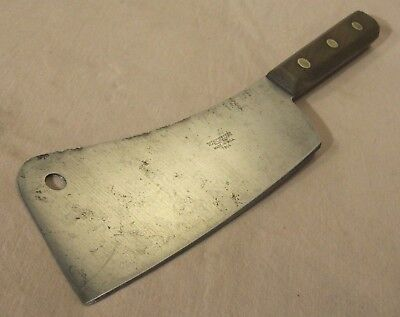 antique~WINCHESTER~7814~MEAT CLEAVER~CARBON STEEL SHARP~BUTCHER CUTLERY UTENSIL~