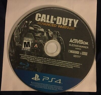 Call of Duty: Advanced Warfare (Sony PlayStation 4, 2014) Disc Only!!