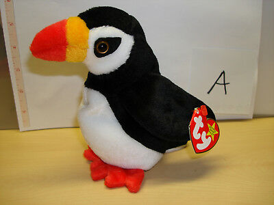 PUFFER THE PUFFIN Ty Beanie Baby PE pellets Mint with mint hang tag ... 80cc9924f823
