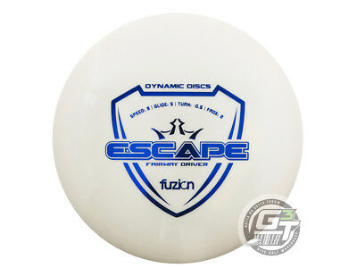NEW Dynamic Discs Fuzion Escape 171g White Blue Foil Fairway Driver Golf Disc