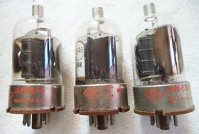 (3) Used CBS 6146 Beam Power Tube for AF and RF Power Amplifier