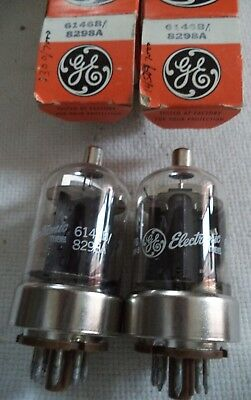 (2) NOS GE 6146B / 8298A Beam Power Tube for AF and RF Power Amplifier