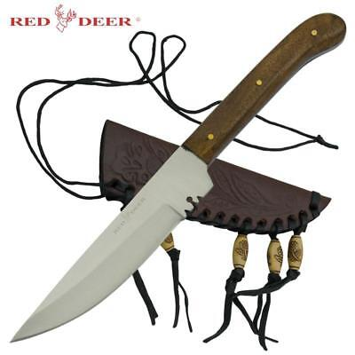 Red Deer® Full Tang Western Style Fixed Blade Patch Knife Leather Sheath Knife