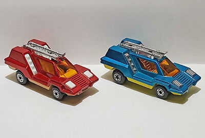 Lot of 2 Matchbox Lesney Superfast #68 Cosmobile in Two Variations - Both Nice