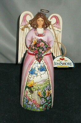 "Jim Shore Angel Music Box Figurine ""spring Renewal Plays ""country Gardens"" 2008"
