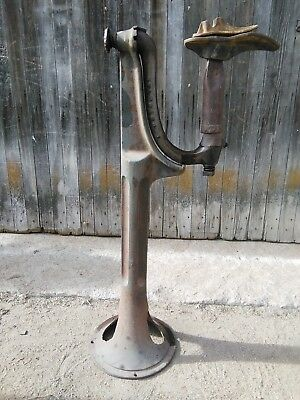 Unique Antique / Vintage Cobbler Stand Floor Mount Cast Iron Positional