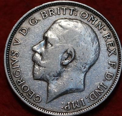 1915 Great Britain Florin Silver Foreign Coin