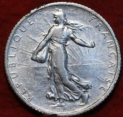 1918 France 1 Franc Silver Foreign Coin
