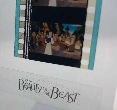 Disney Animation Authentic Film 5-Cell Strip BEAUTY & THE BEAST Belle In Village
